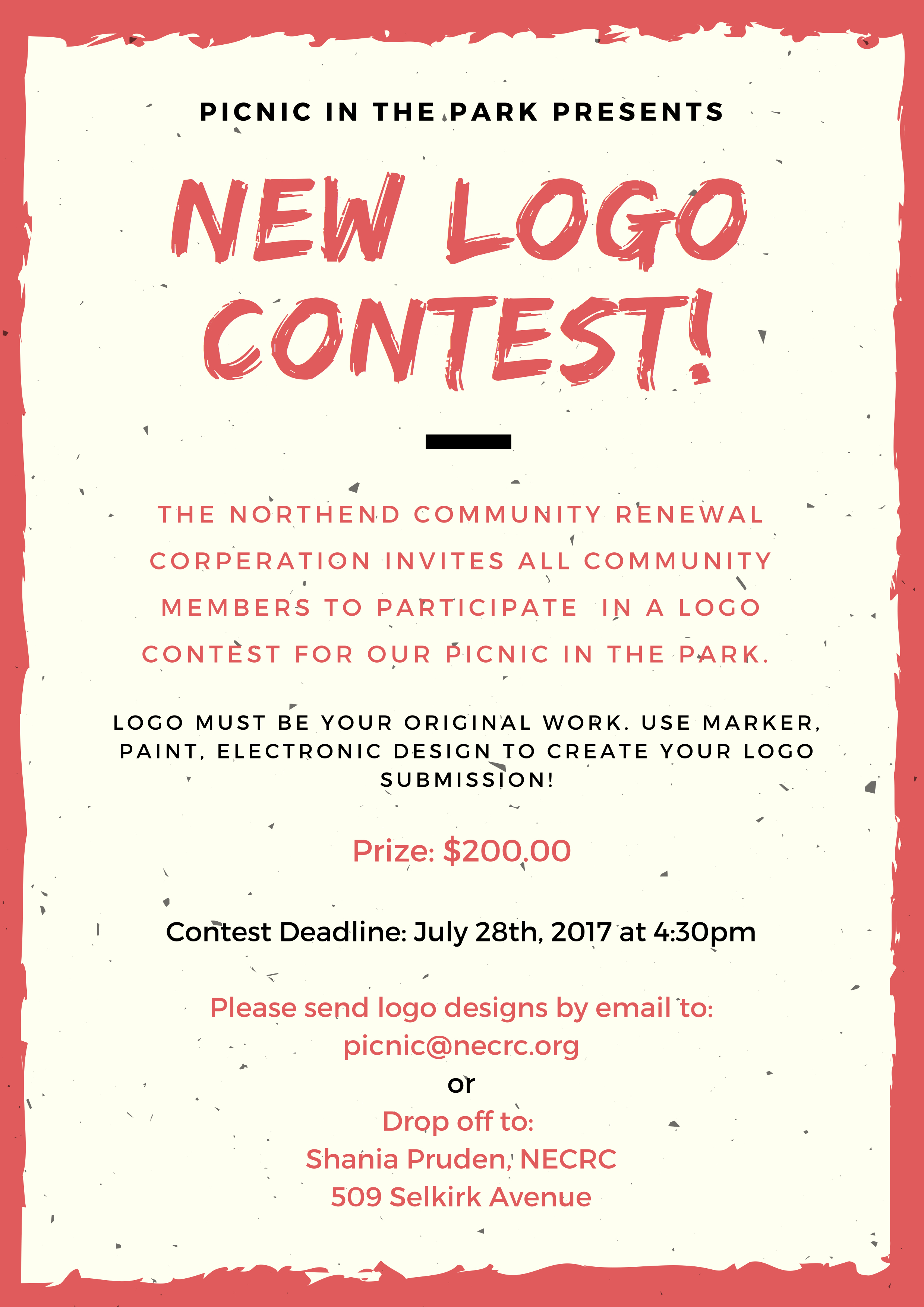 2017 Picnic in the Park Logo Contest.