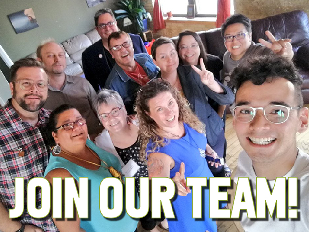 Join our team. Group photo
